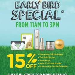 TheFaceShop | 15% off Early Bird promotion