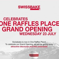 Swissbake | Buy 1 Get 1 Free @ One Raffles Place