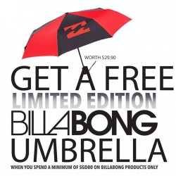 Isetan | FREE Billabong Umbrella with $80 purchase