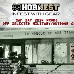 Hornest | 15% off military gear in honour of our troops