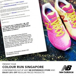 New Balance Singapore | The Color Run Promotion