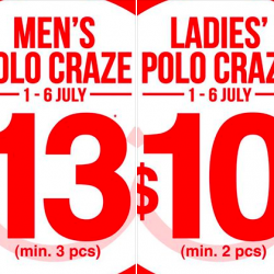 Bossini | Polo Craze promotion from $10