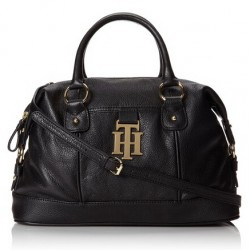Amazon | Tommy Hilfiger Monogrammed Two Convertible Bowler Pebble Shoulder Handbag
