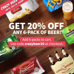 Redmart | 20% Off on any 6 Pack of Beer Promotion