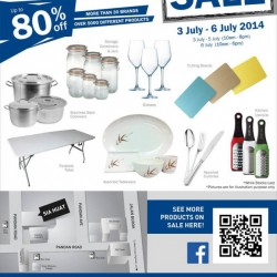 Sia Huat Annual Kitchenware Warehouse Sale 2014