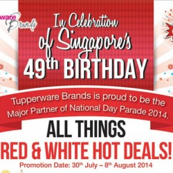 Tupperware | National Day 2014 Red & White promotion