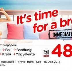 AirAsia | Immediate travel from all-in fare S$48