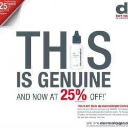 AsterSpring | 25% OFF Dermalogica products