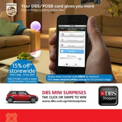 DBS | 15% off storewide at Philips Lighting Online Store
