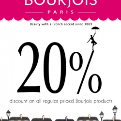 Metro | 20% off all regular priced Bourjois products