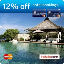 Citibank |  12% off hotel bookings on Hotels.com