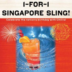 Chili's | 1-For-1 Singapore Sling