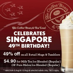The Coffee Bean & Tea Leaf | National day offers