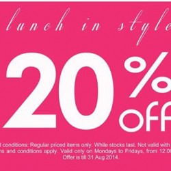 ton | Lunch time special 20% off regular priced items