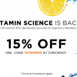 Luxola | 15% off vitamin science products