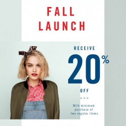 ALDO | 20% off with minimum purchase of 2 regular priced items