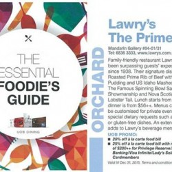 Lawry's The Prime Rib | 20% off à la carte for UOB members
