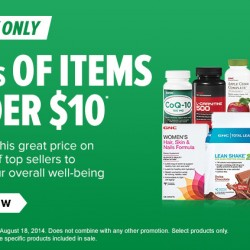 GNC USA | 100s of Items Under US$10 Sale Aug 2014