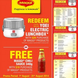MAGGI Singapore | Free YOEI Electric Lunch box or MAGGI Chili Sauce