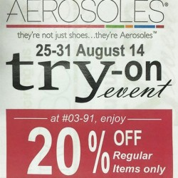 Aerosoles | Singapore Try-On Event @ Plaza Singapura