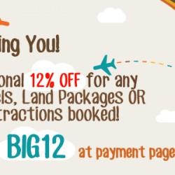 AsiaTravel | Additional 12% off promotion code