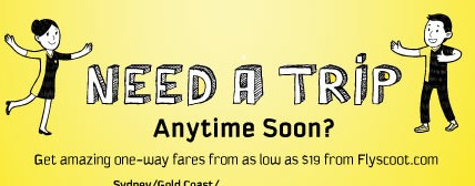 Scoot | one-way fares from $19 + 15% off promo code