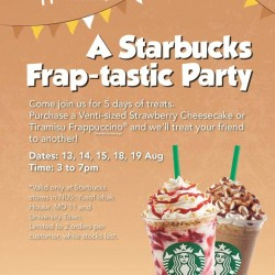 Starbucks Singapore | One for one treat @ NUS YIH