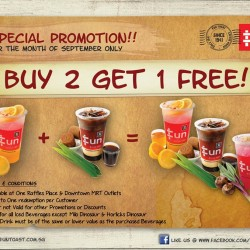 Fun Toast | Buy 2 Get 1 free Cold Beverage Deals