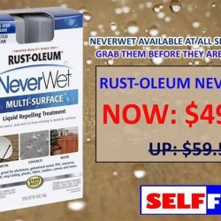 Selffix | Rustoleum Neverwet Promotion