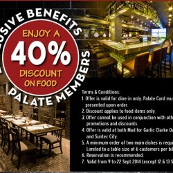 Palate | 40% off food for up to 6 persons at Mad For Garlic