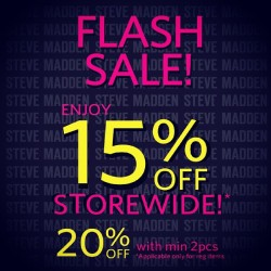 Steve Madden | UP TO 20% OFF storewide FLASH SALE