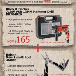 Selffix DIY | Black & Decker 13mm Hammer Drill KR704REK