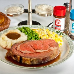 UOB   1-for-1 lunch main courses on weekdays at Lawry's The Prime Rib