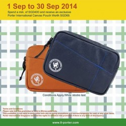 Poter international   Free Canvas Pouch with $400 purchase