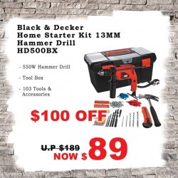 Selffix DIY | Black & Decker Home Starter Kit Hammer Kit @ $100 OFF