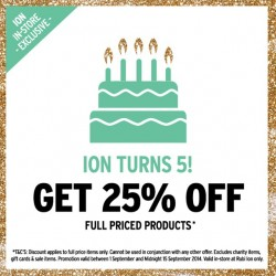 Rubi | 25% off all full price product at Rubi Ion