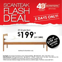 Scanteak | 3ft single bed frame going at $199