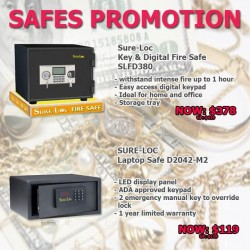 SELFFIX | selected Sure-Loc safes promotion