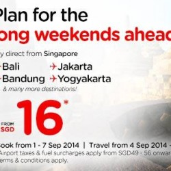 AirAsia | holidays for the long weekends from $16