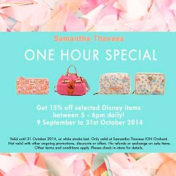 Samantha Thavasa | 15% off selected Disney items