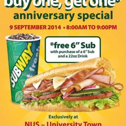 Subway | Buy one Sub and get ONE FREE at U town