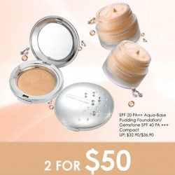 SaSa | Cyber colors GEMSTONE foundation 2 for $50 promotion