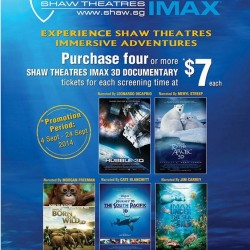 Shaw Theatres | Documentary IMAX 3D Movie Tickets Promotion