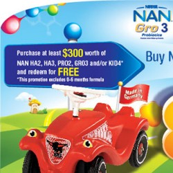 Nestle | FREE Big Bobby Car with Nan items purchased