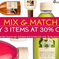 Yves Rocher | 30% off with Mix and Match any 3 items