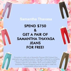 Samantha Thavasa | Free Pair of Samantha Thavasa Jeans with purchase
