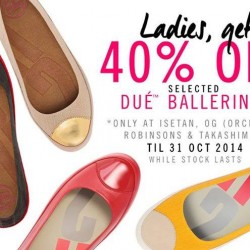 FitFlop | 40% off selected DUE ballerinas
