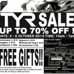 TYR | 70% off warehouse sale