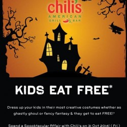 Chili's | kids dress for Halloween eat for FREE