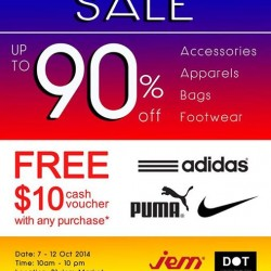 MEGA SALE at B1 Jem Market from DOT